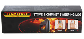 stove log for chimney soot reducer
