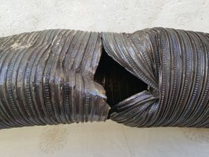 flexi chimney rods example of damaged liner